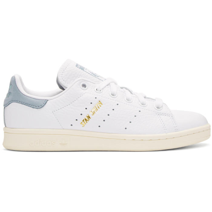 adidas Originals x Pharrell Williams White and Blue Stan Smith Sneakers