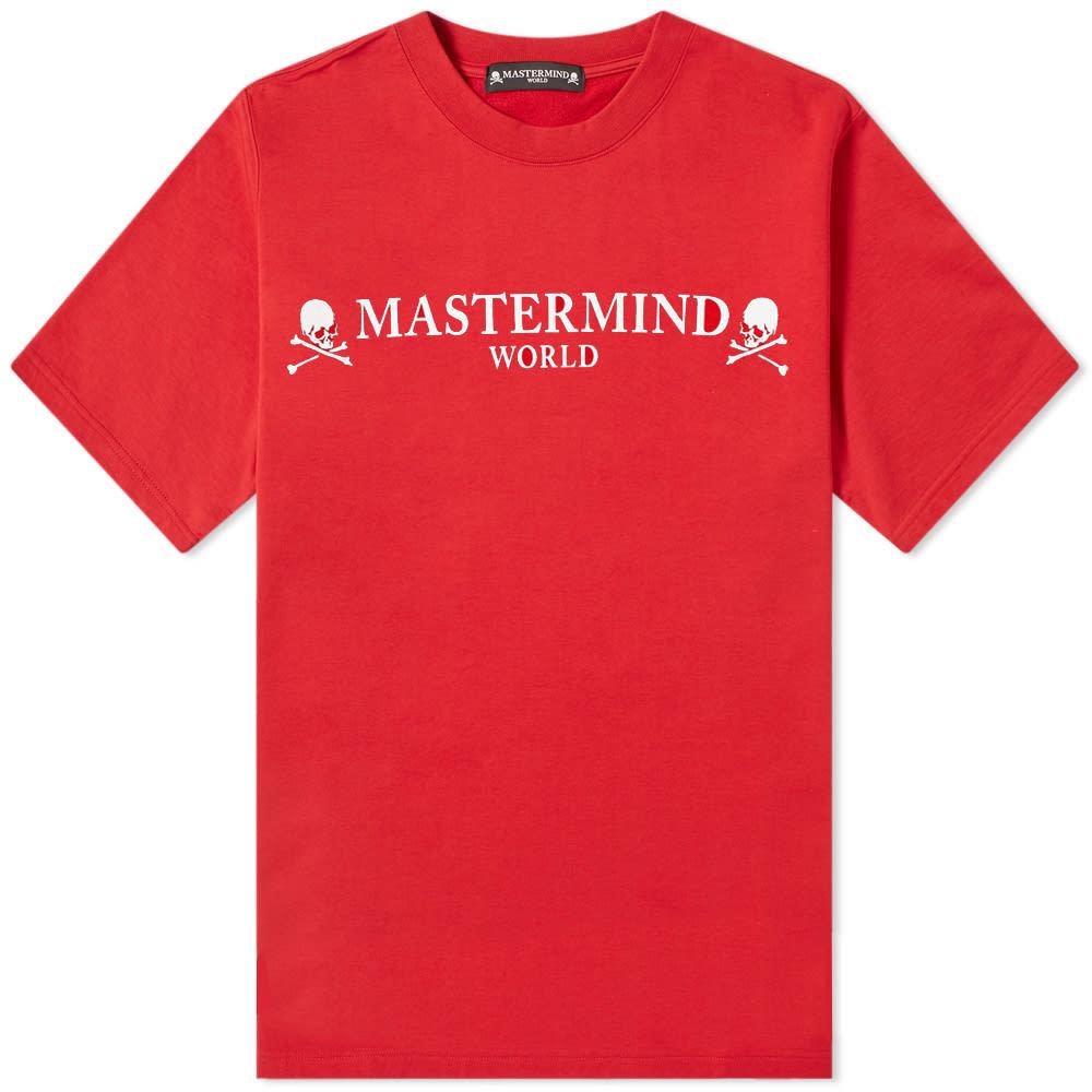 Photo: MASTERMIND WORLD Logo Tee Red