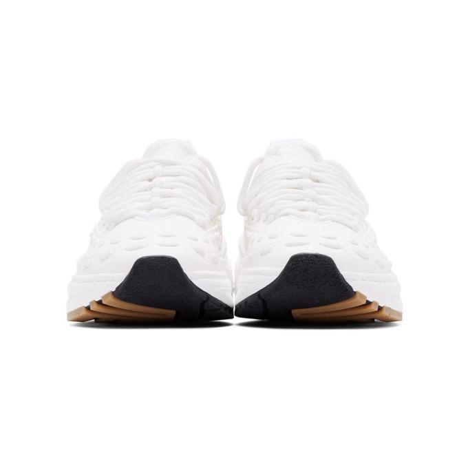 Bottega Veneta White Lace Speedster Sneakers