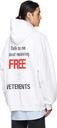 VETEMENTS White 'Free Hugs' Hoodie