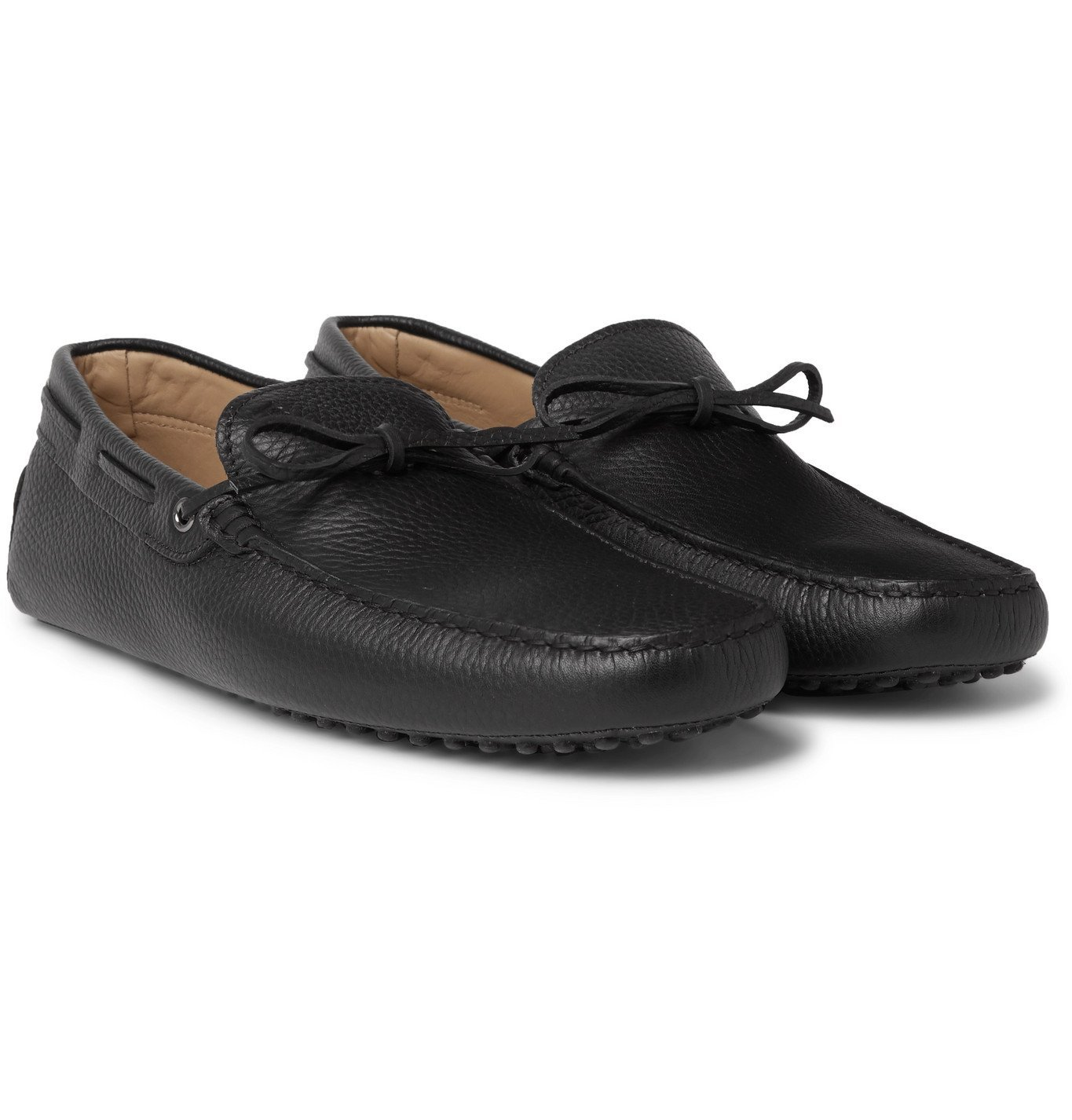 Photo: Tod's - Gommino Full-Grain Leather Driving Shoes - Black