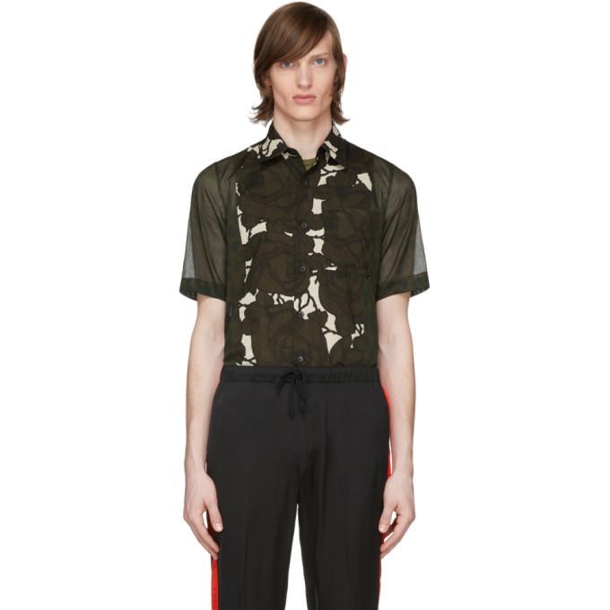 Photo: Dries Van Noten Khaki Leopard and Floral Shirt
