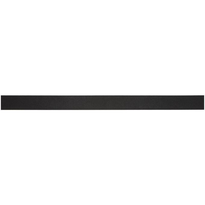 Officine Generale Black Leather Slim Belt