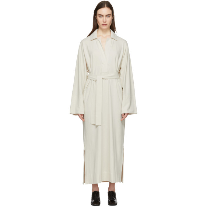 Photo: Lemaire Off-White Polo Shirt Dress