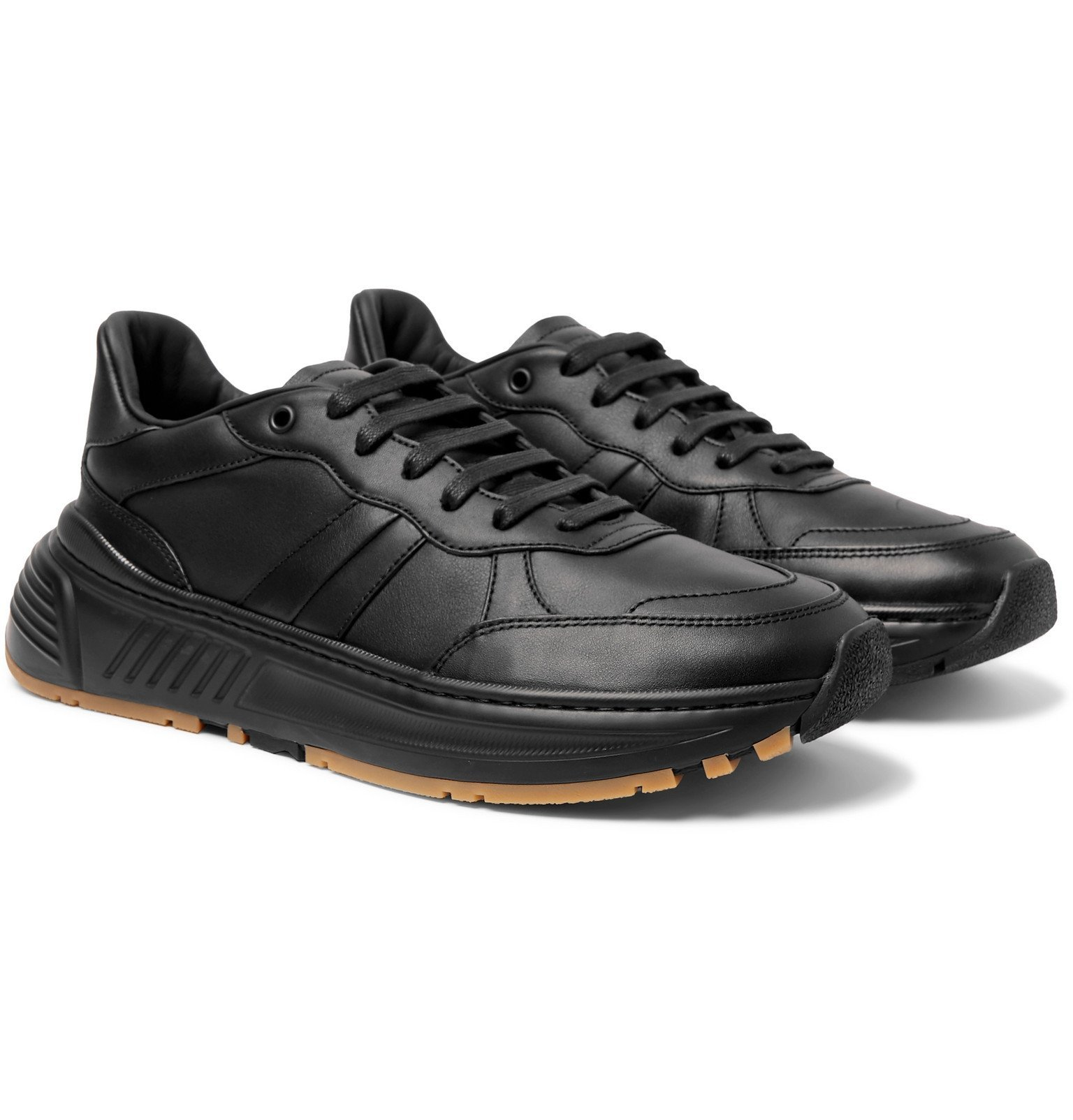 Photo: Bottega Veneta - Speedster Leather Sneakers - Black