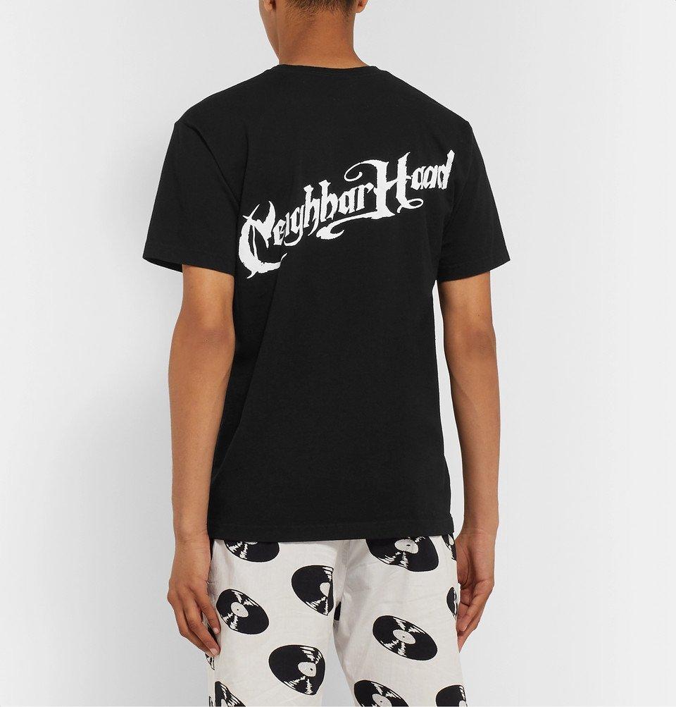 Neighborhood - Logo-Print Cotton-Jersey T-Shirt - Black