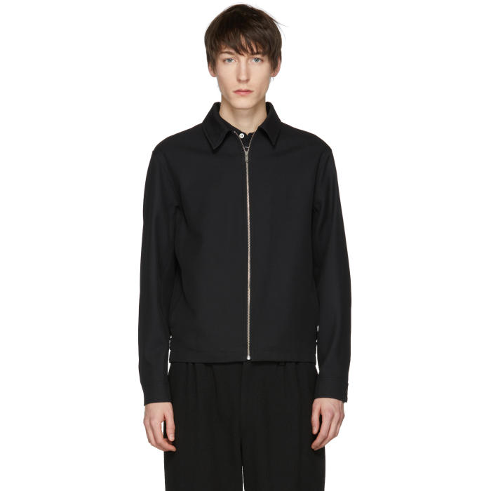 Photo: Lemaire Black Wool Zip Jacket