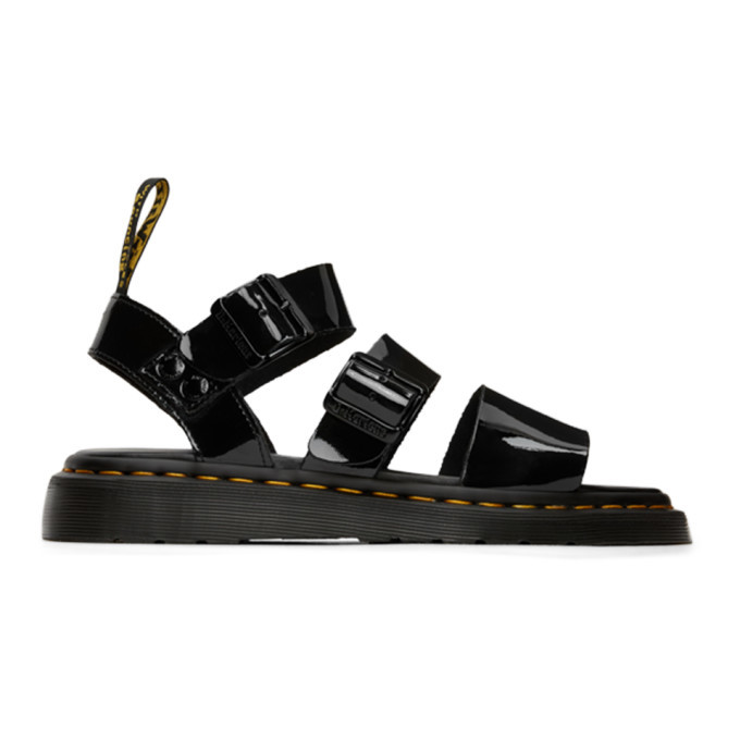 Photo: Dr. Martens Black Patent Gryphon Sandals