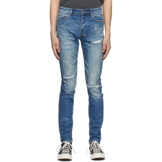 Photo: Ksubi Blue Painted Chitch Jeans