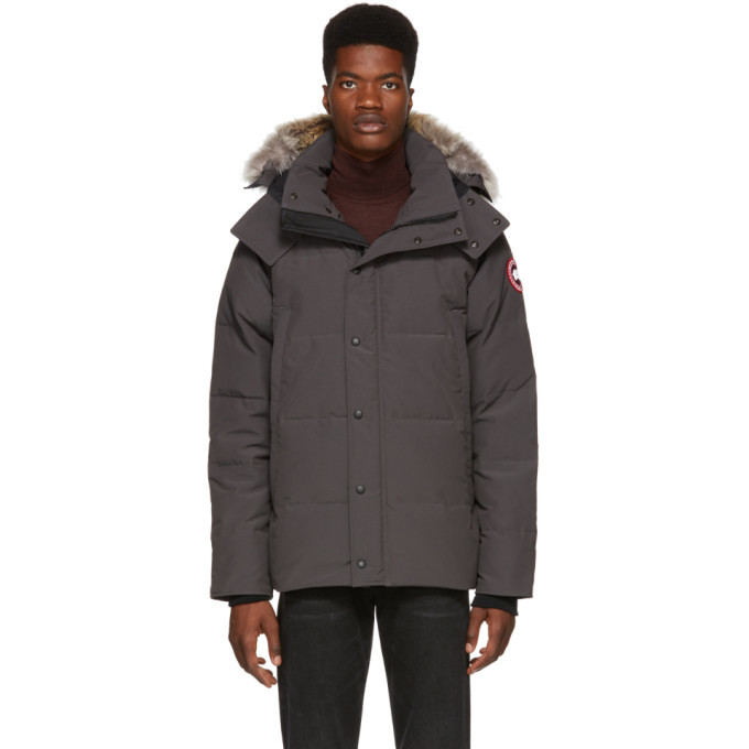 Photo: Canada Goose Grey Down Wyndham Parka