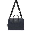 Smythson Navy Panama Slim Lightweight Briefcase