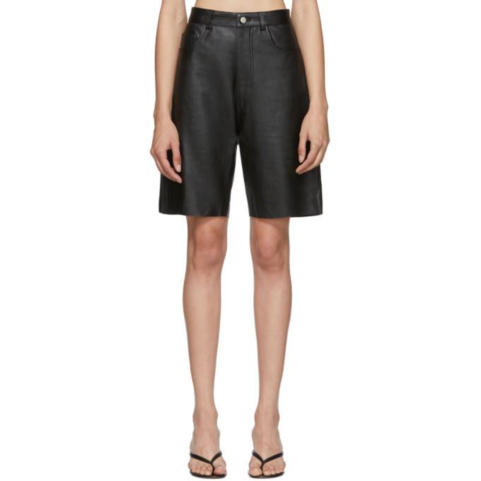 Photo: Georgia Alice Black Leather Margot Shorts