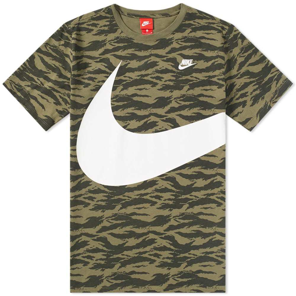 Photo: Nike AOP Swoosh Tee Green