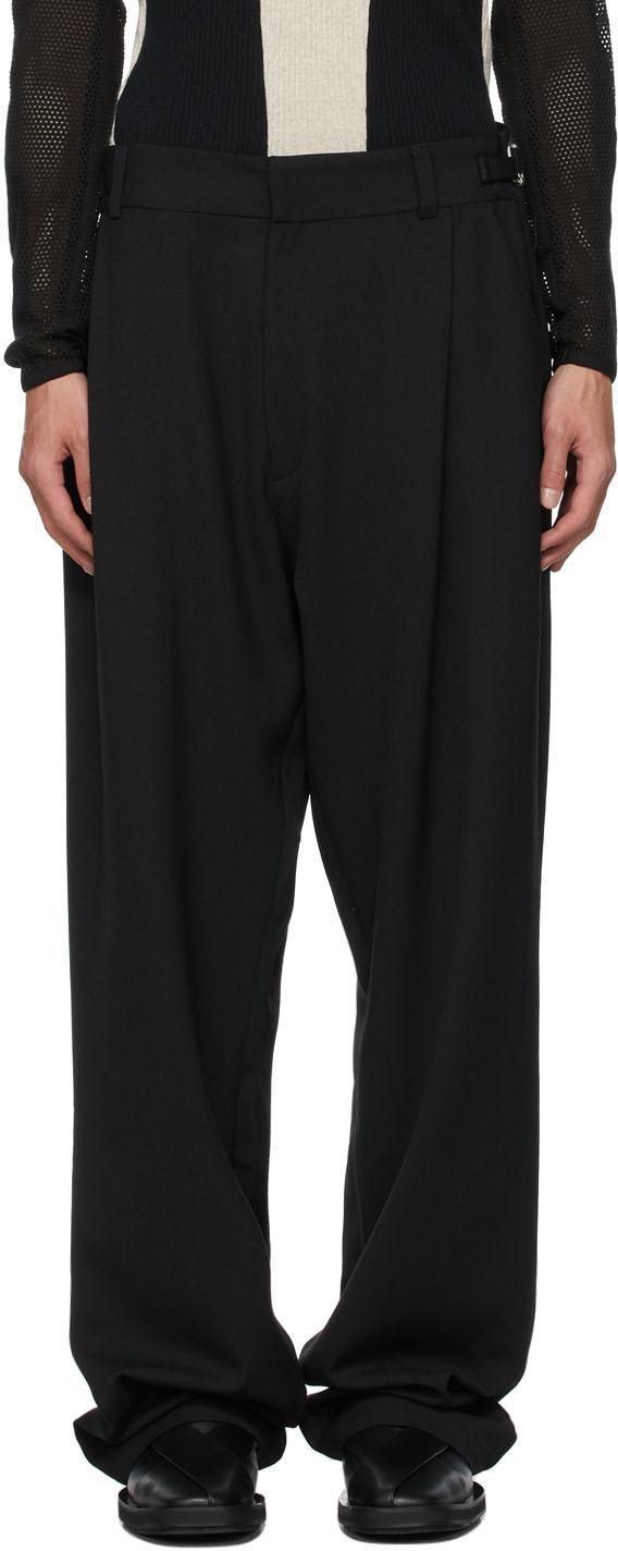 Photo: GmbH Black Wool Tarek Trousers