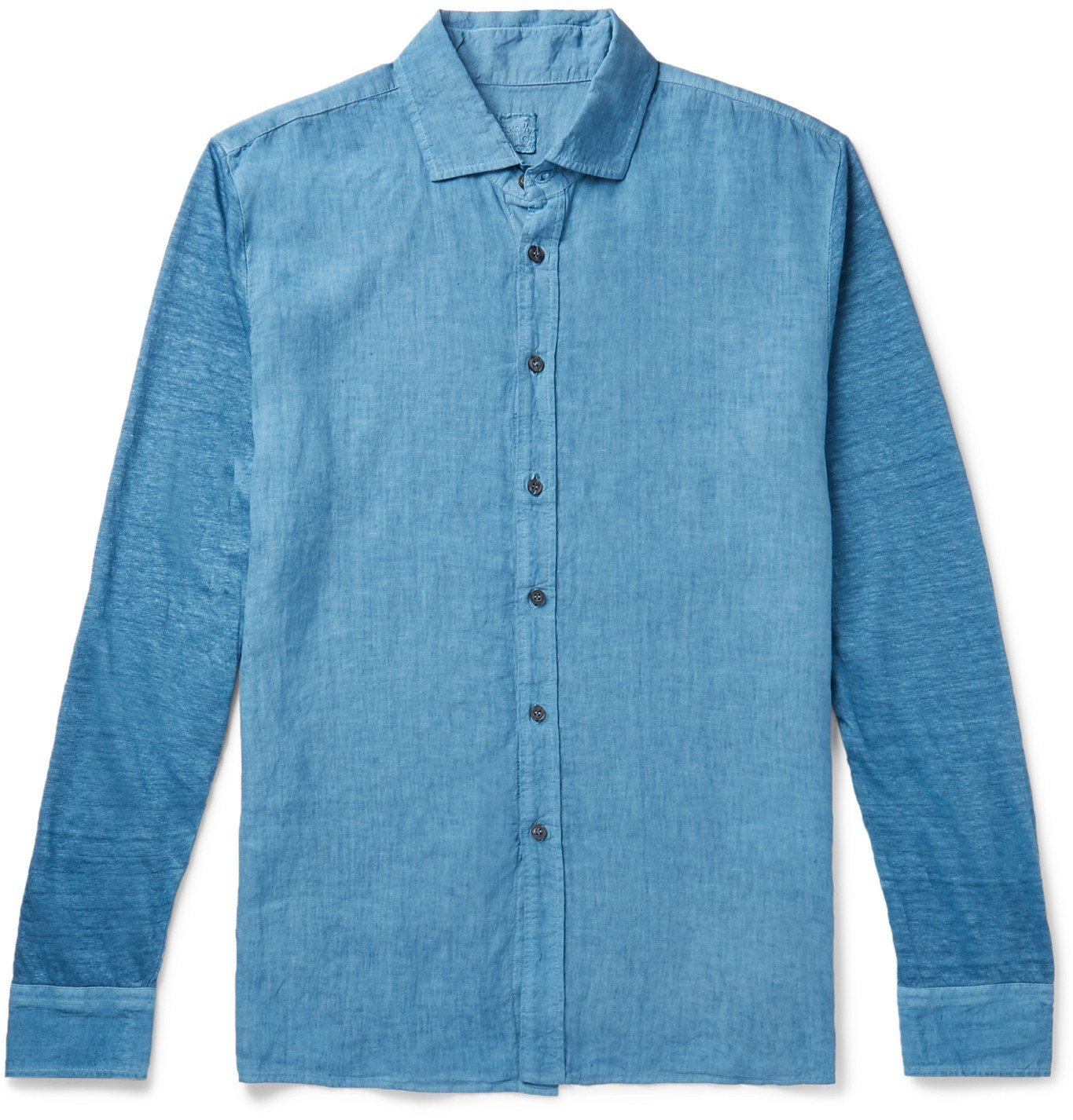 Photo: 120% - Linen-Chambray Shirt - Blue