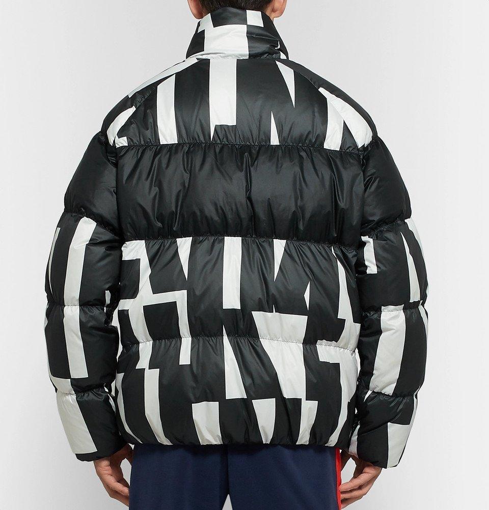 b9b786f697f Nike - Sportswear Quilted Printed Shell Down Jacket - Men - Black Nike