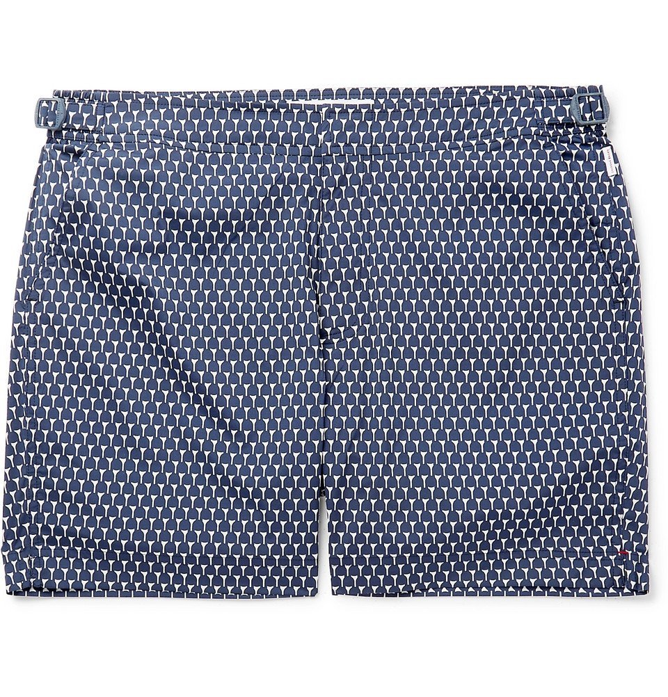 Photo: Orlebar Brown - Bulldog Mid-Length Printed Swim Shorts - Navy