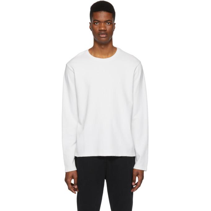 Photo: Frame White Raw Hem Long Sleeve T-Shirt