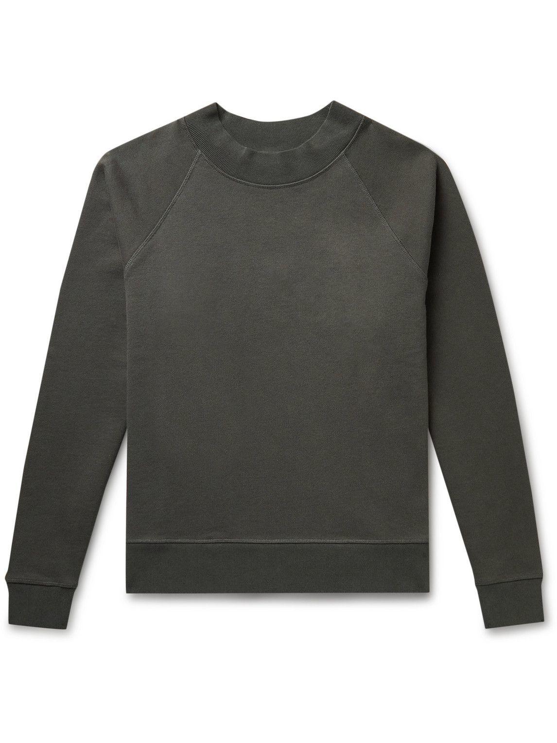 Photo: Margaret Howell - MHL Organic Cotton-Jersey Mock-Neck Sweatshirt - Gray
