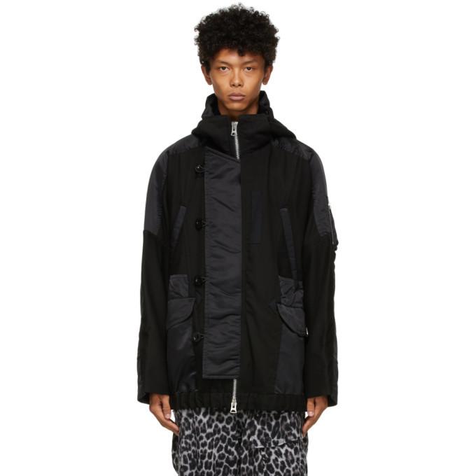 Sacai Black Twill Jacket