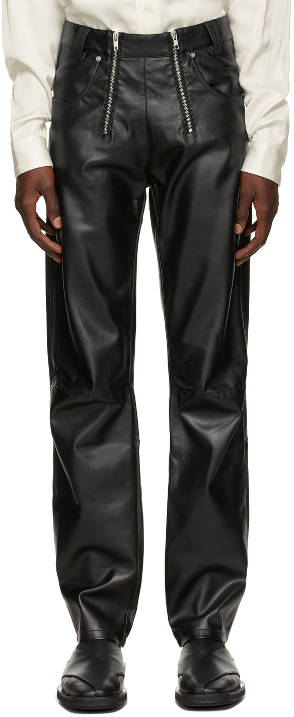 Photo: GmbH Black Faux-Leather Thor Trousers