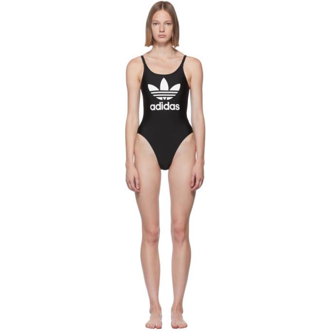 adidas Originals Black Trefoil Swim Suit
