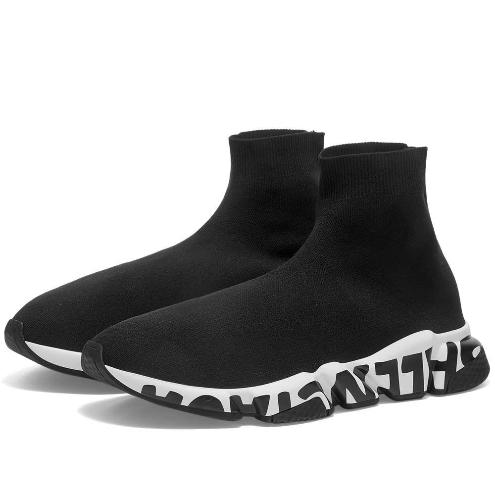 Photo: Balenciaga Logo Sole Speed Sneaker