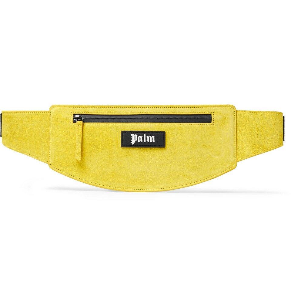 Photo: Palm Angels - Logo-Appliquéd Suede Belt Bag - Yellow