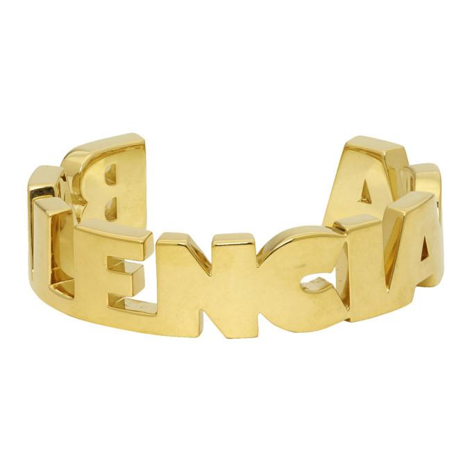 Photo: Balenciaga Gold Typo Bracelet