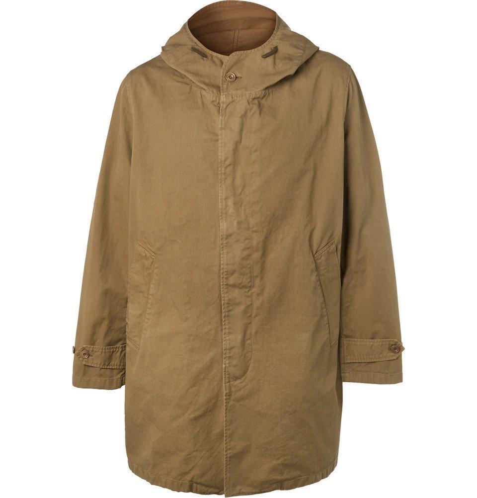 Photo: Hartford - Carter Oversized Cotton-Twill Hooded Coat - Men - Beige