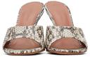 Amina Muaddi Brown Snake Lupita Heeled Sandals
