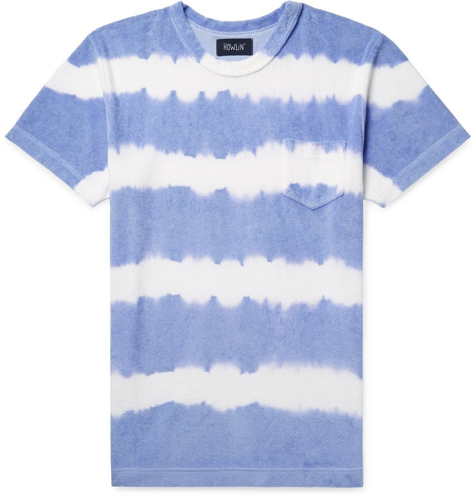 Photo: Howlin' - Tie-Dyed Cotton-Blend Terry T-Shirt - Violet