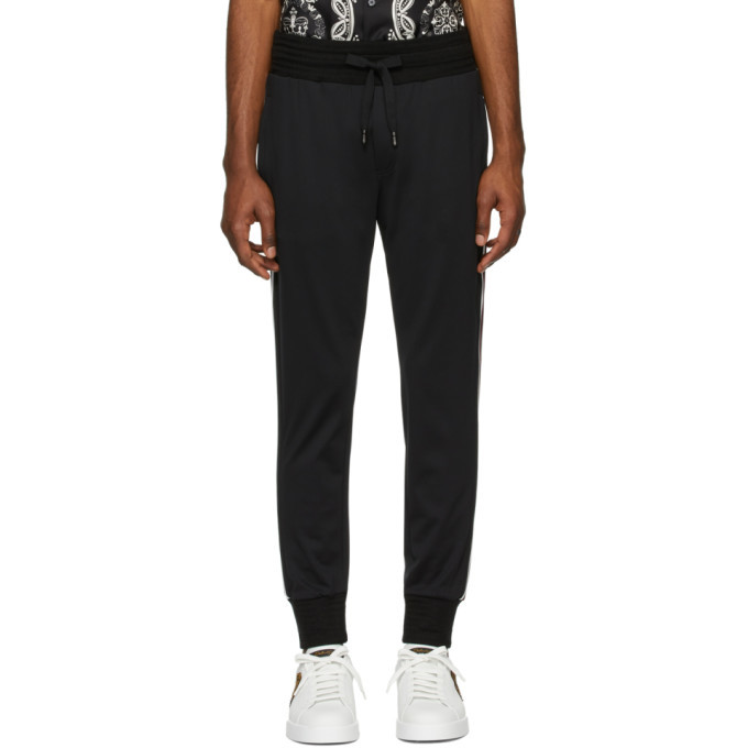 Photo: Dolce and Gabbana Black Patch Lounge Pants