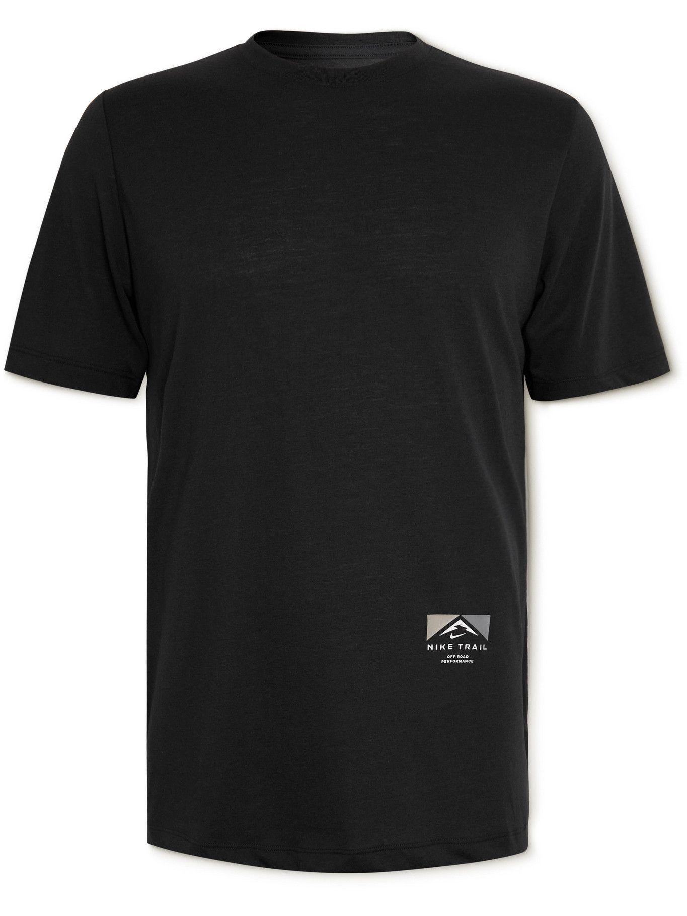 Photo: Nike Running - Trail Printed Dri-FIT T-Shirt - Black