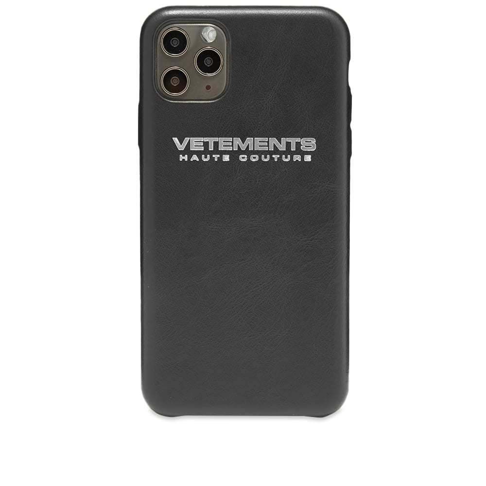 Photo: VETEMENTS Haute Couture iPhone 11 Pro Max Case