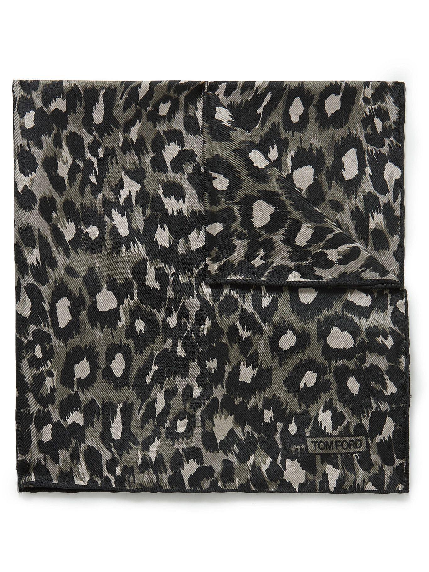 Photo: TOM FORD - Leopard-Print Silk-Twill Pocket Square
