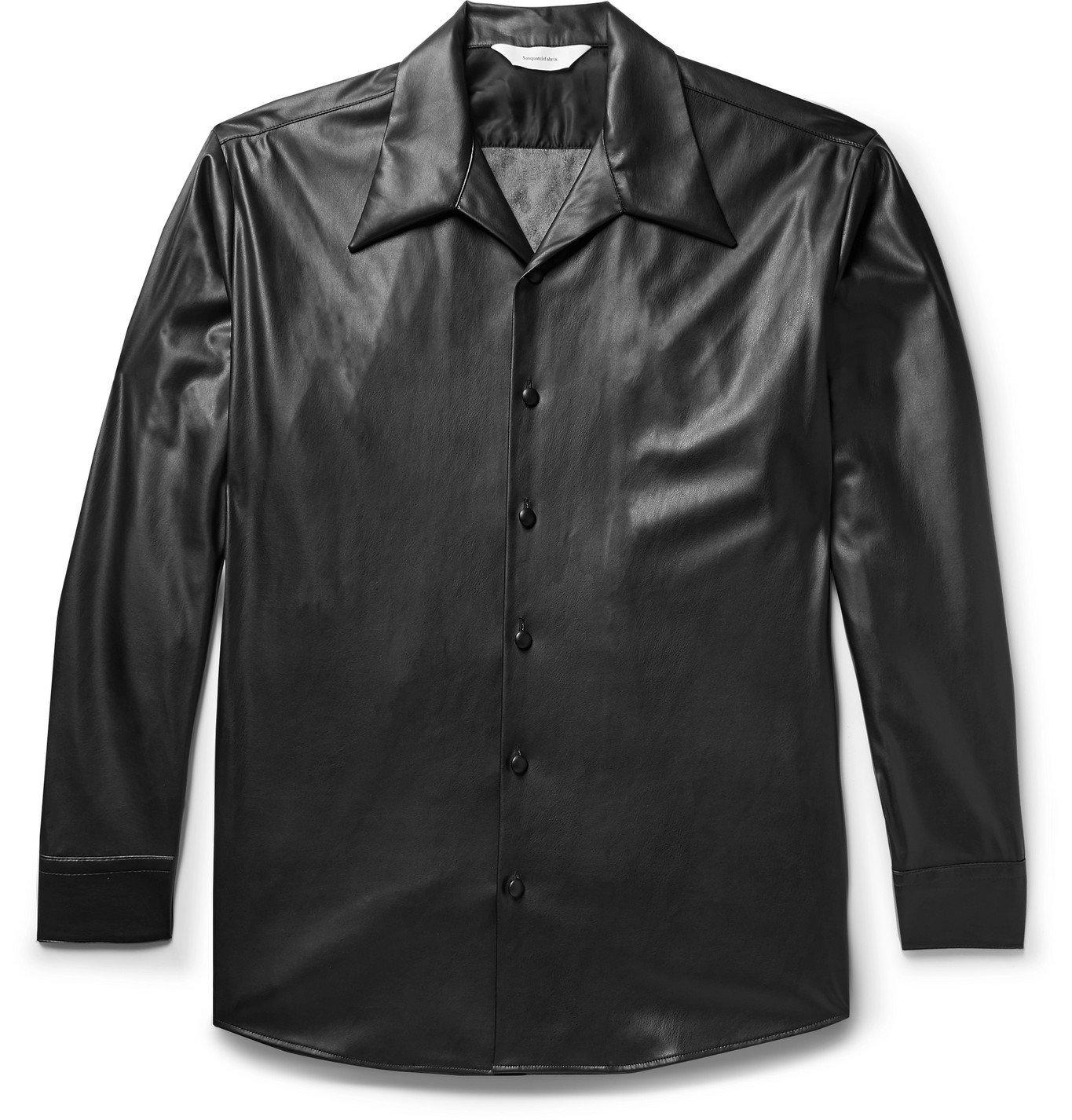 Photo: Sasquatchfabrix. - Faux Leather Shirt - Black
