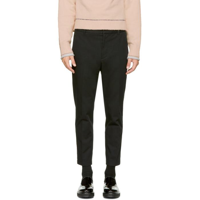 3.1 Phillip Lim Black Cropped Saddle Trousers