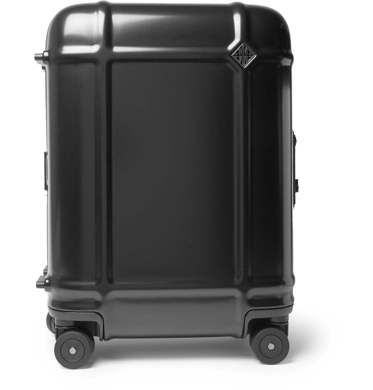 Photo: Fabbrica Pelletterie Milano - Globe Spinner 55cm Leather-Trimmed Polycarbonate Carry-On Suitcase - Black