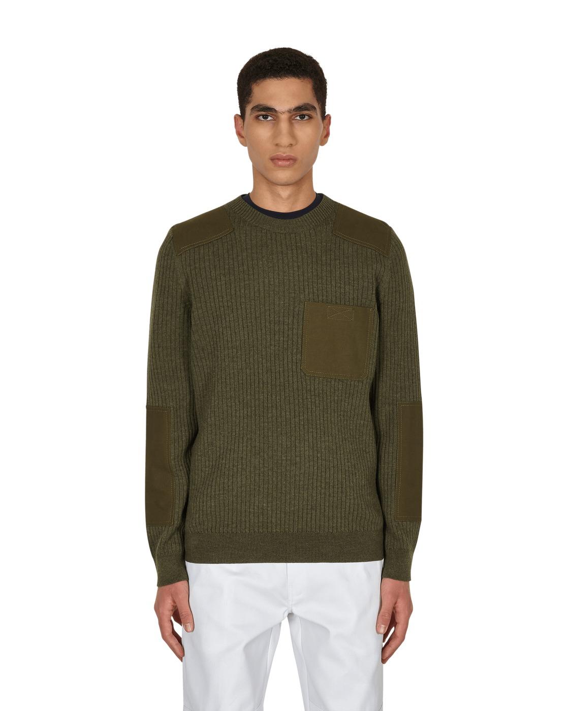 Photo: A.P.C. Romain Crewneck Sweater Military Khaki
