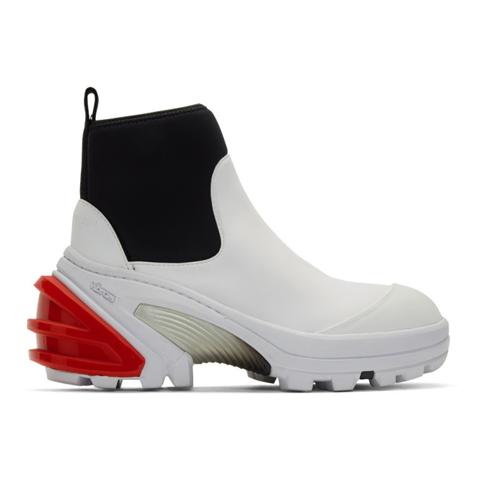 Photo: 1017 ALYX 9SM White Fixed Sole Mid Boots