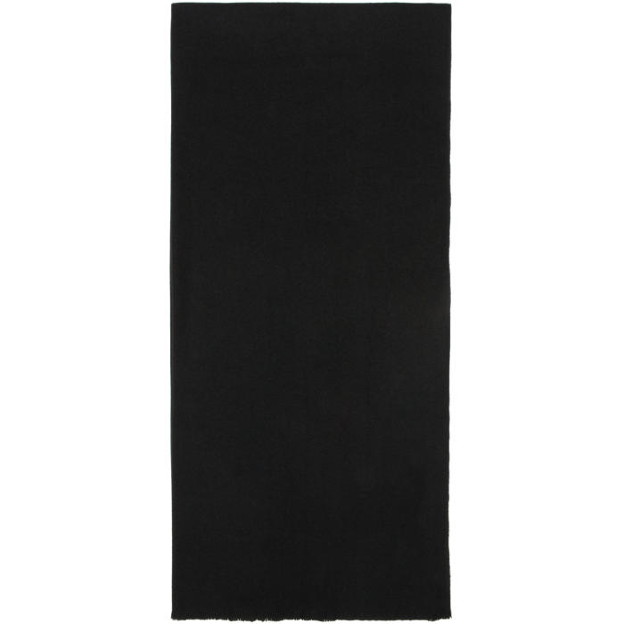 Photo: Lemaire Black Large Wool Scarf