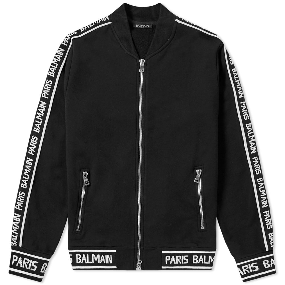Photo: Balmain Taped Bomber Jacket