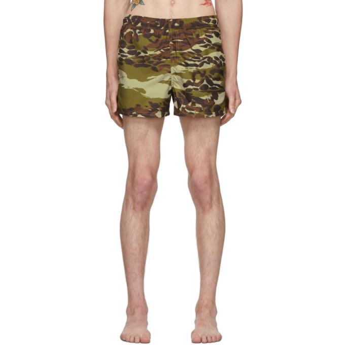 Photo: Givenchy Khaki Camouflage Swim Shorts
