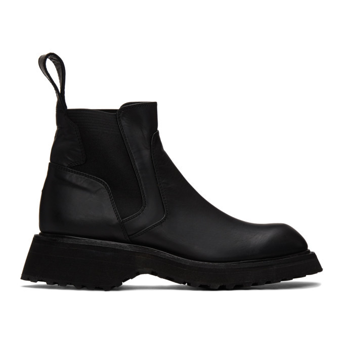 Photo: Julius Black Leather Chelsea Boots