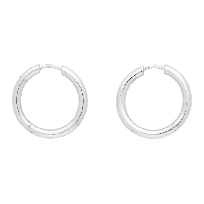 Photo: Tom Wood Silver Classic Hoop Medium Earrings