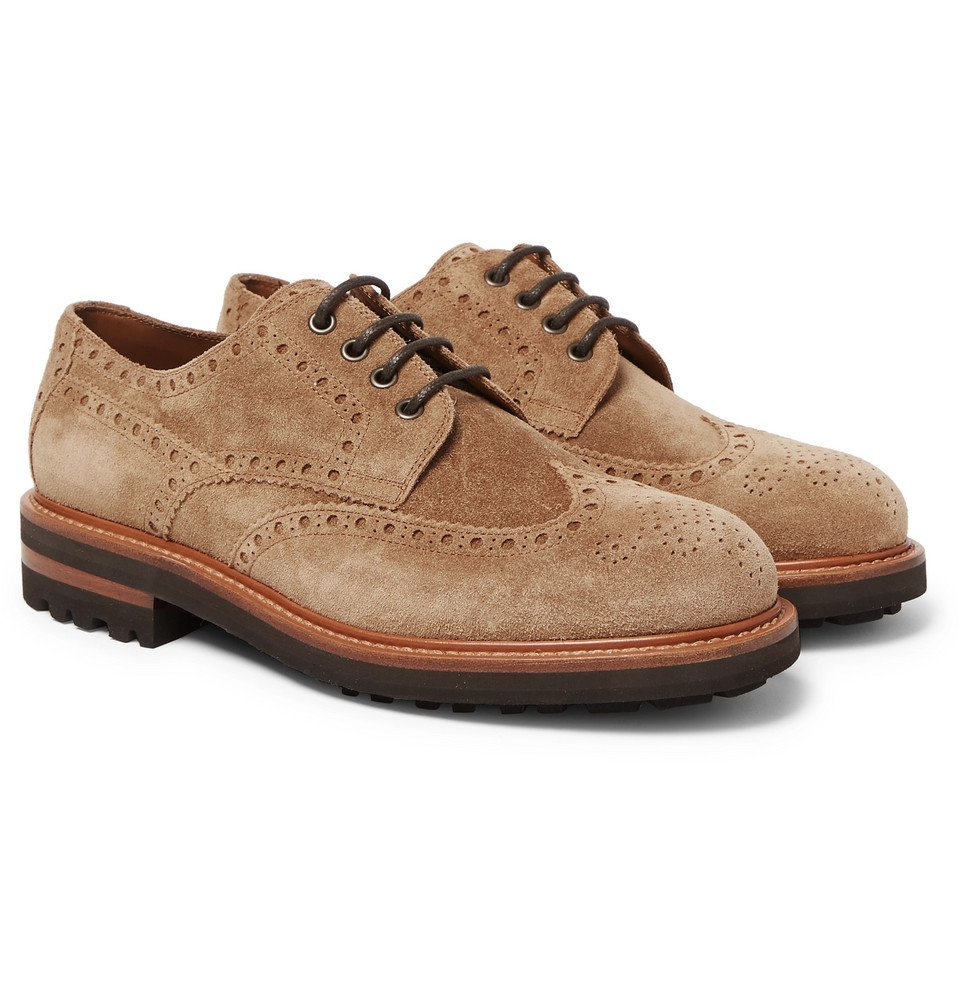 Photo: Brunello Cucinelli - Suede Brogues - Light brown