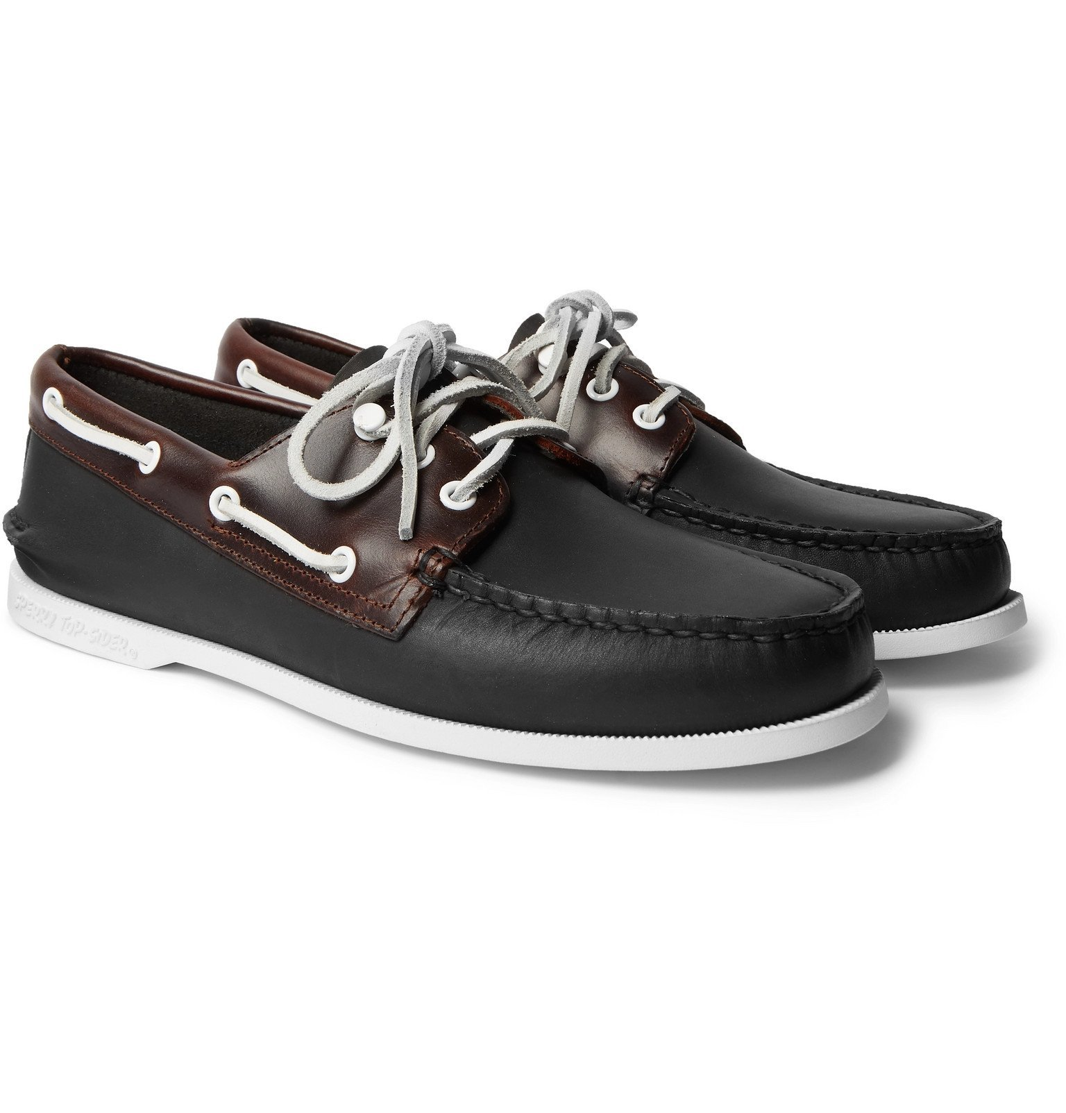 Photo: Sperry - Authentic Original Leather Boat Shoes - Black