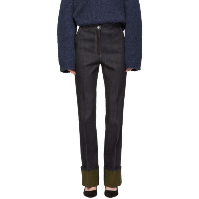 Photo: Bottega Veneta Navy Cuffed Jeans