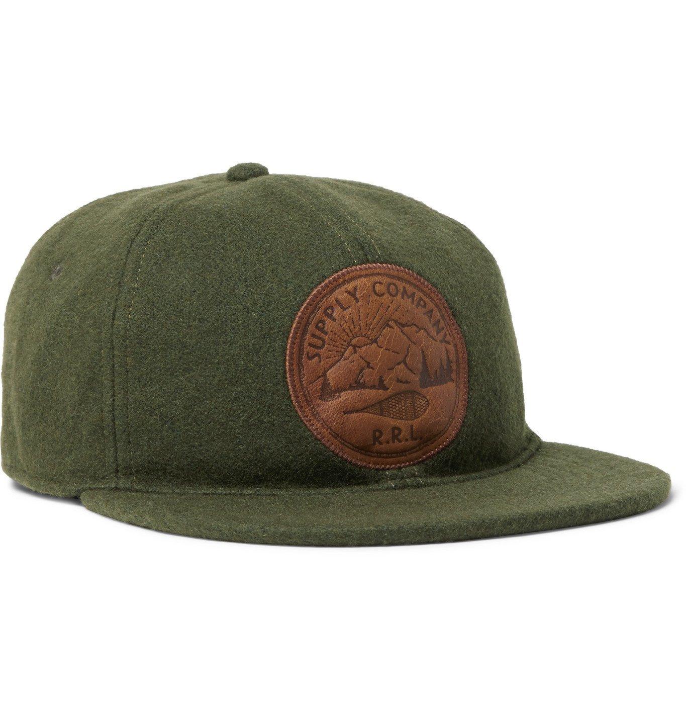 RRL - Appliquéd Wool-Blend Baseball Cap - Green